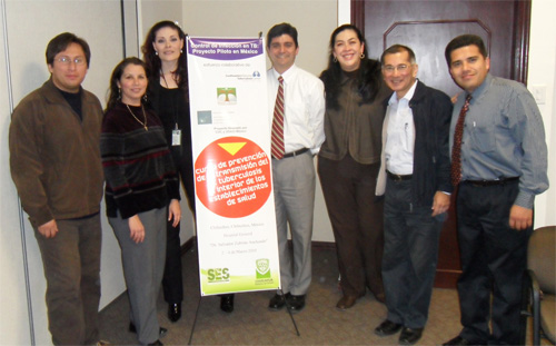 From left to right – Dr. Sulca, Dr. Hamsho, Dr. Beltran, Dr. Lauzardo, Dr. Rivas, Dr. Yagui and Dr. Tapia