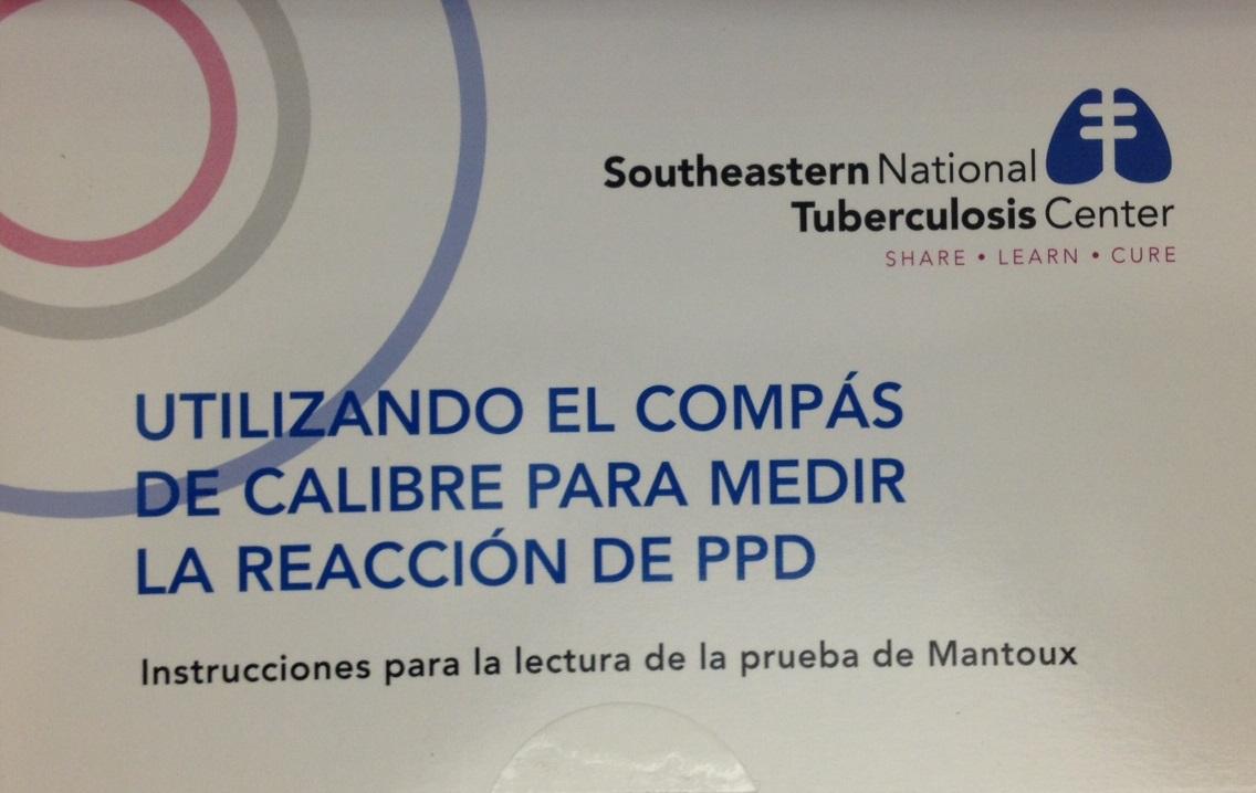 *Caliper for Tuberculin Skin Test Reading - instructions in Spanish